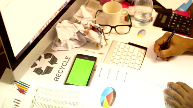 Businessman working in the office. video
