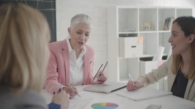 Businesspeople Having Meeting In Their Office. video