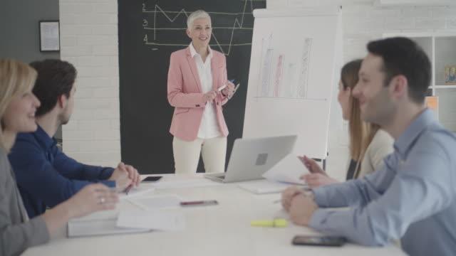 4K: Businesspeople having meeting in their office. video