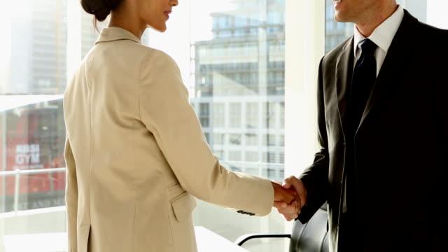 Hommes d'affaires se serrant la main - Vidéo