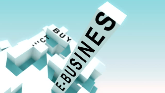 business-to-business words animated with cubes - wielka litera filmów i materiałów b-roll