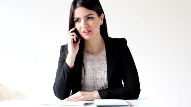 Businesswoman at work video