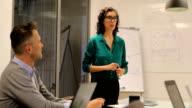 istock Businesswoman giving presentation in meeting 1149217493