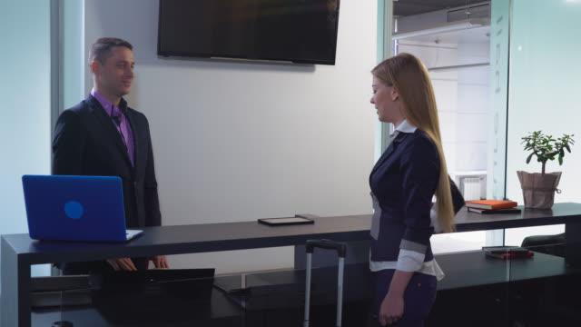 Businesswoman in business trip video