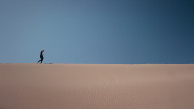 Businesswoman in desert video