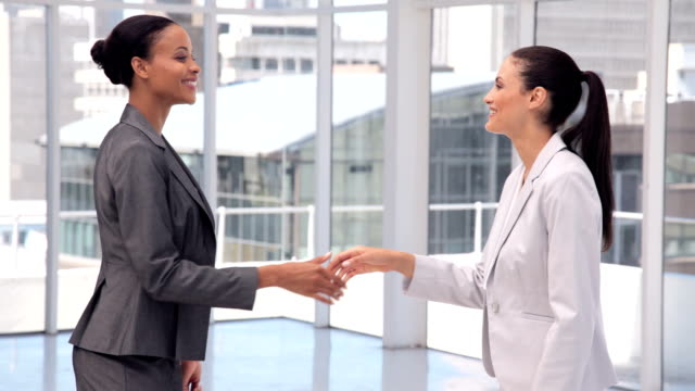 businesswoman introductions - business card stock videos & royalty-free footage