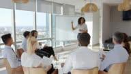 istock Businesswoman Making Presentation Shot Through Doorway 654369998