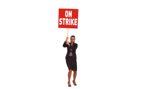 HD: Businesswoman On A Strike video