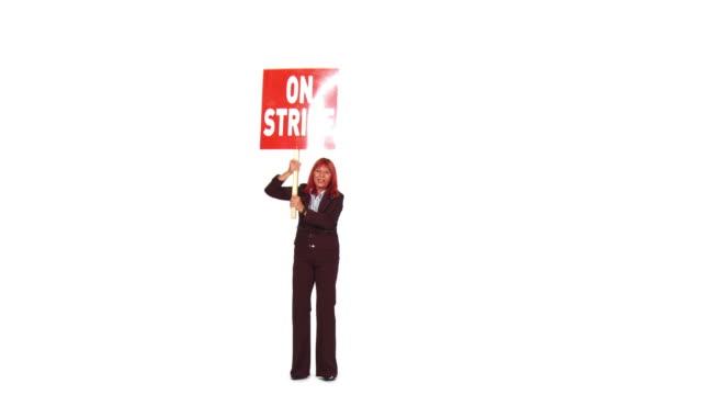 HD: Businesswoman On A Strike video