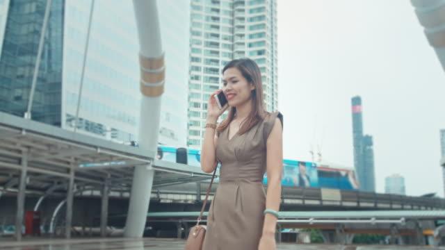 Businesswoman on phone video