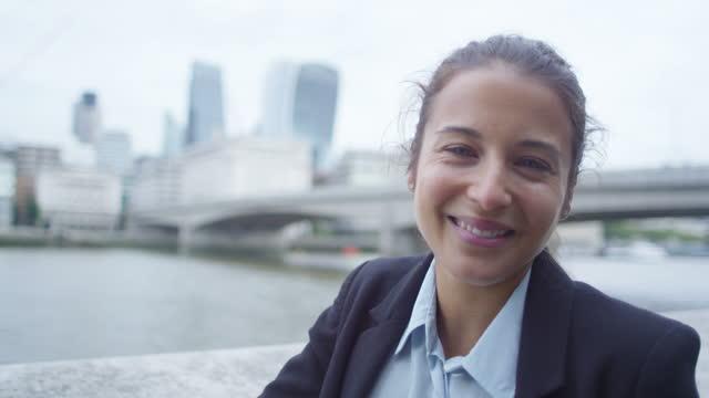 Businesswoman Outside in City of London video