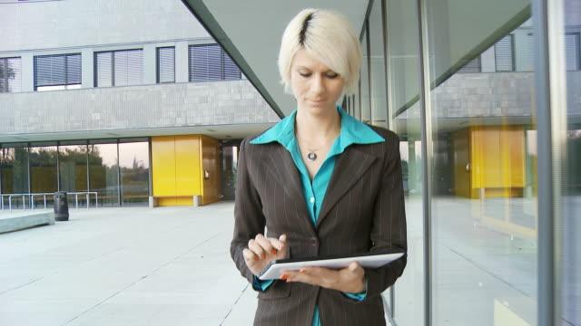 HD STEADY: Businesswoman Using Digital Tablet video