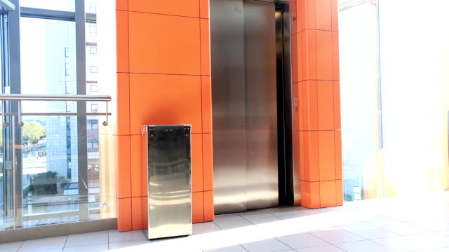 Businesswoman Walking Past Elevator in Office Building. video