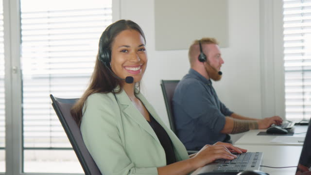 Businesswoman working in a customer support industry
