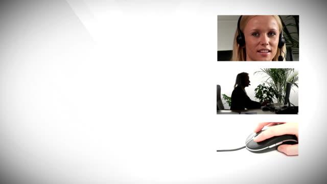 vídeos y material grabado en eventos de stock de mujer de negocios que trabajan en la oficina - enfoque en primer plano