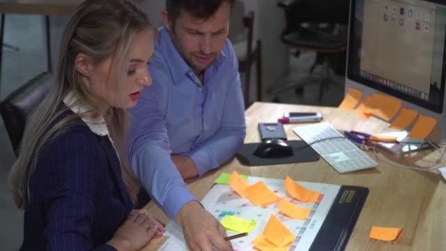 Businesswomen and businesswoman planning business schedule on calendar