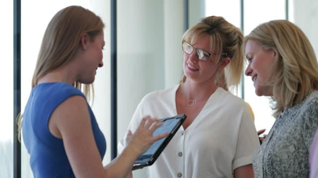 Businesswomen Chatting