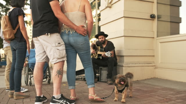 busking street musician - musician stock videos and b-roll footage