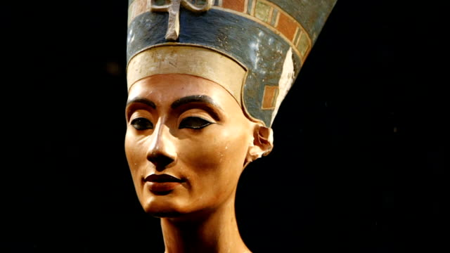 Bust of Nefertiti Head Sculpture video