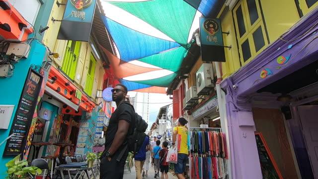 Bustling in Haji Lane, Singapore