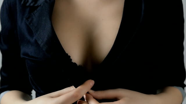 Busty women's cleavage Close-up of women wearing bra sensualitet stock videos & royalty-free footage