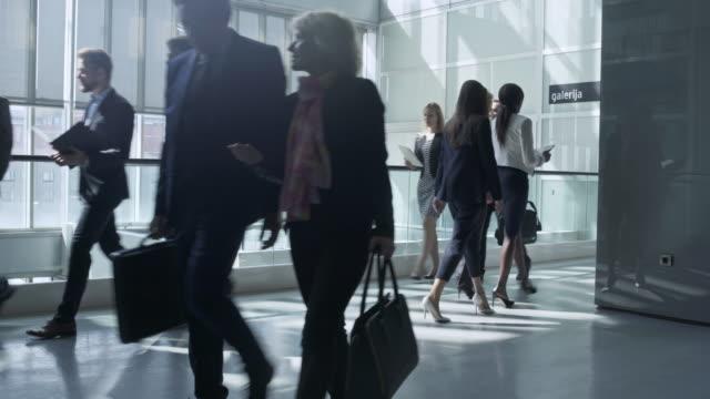 Busy business lobby 4K Video video