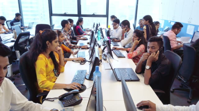 Busy Call Centre in Operation