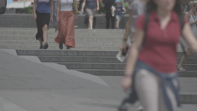 Busy City Commuters and Public video