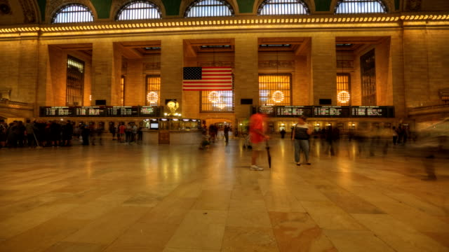 Busy Grand Central Station in Manhattan video