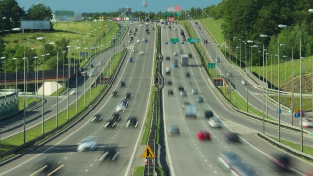 Busy Highway Traffic Cinemagraph Time Lapse Busy Highway Traffic Cinemagraph Time Lapse gdansk stock videos & royalty-free footage