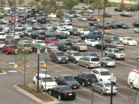 Busy Parking Lot video