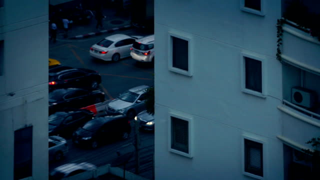 Busy Road By Apartments In The Evening video