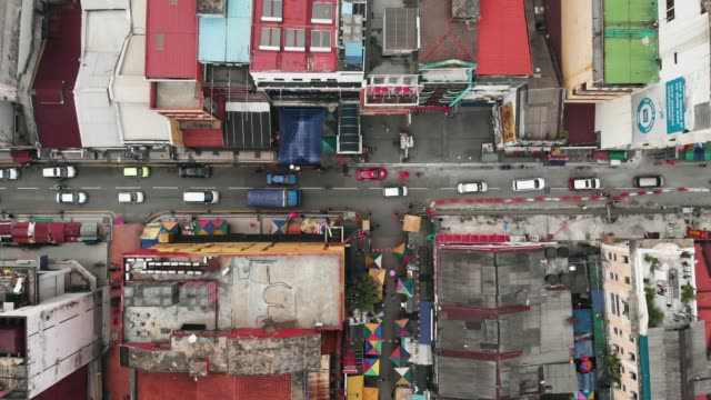busy street in malaysia - malese video stock e b–roll
