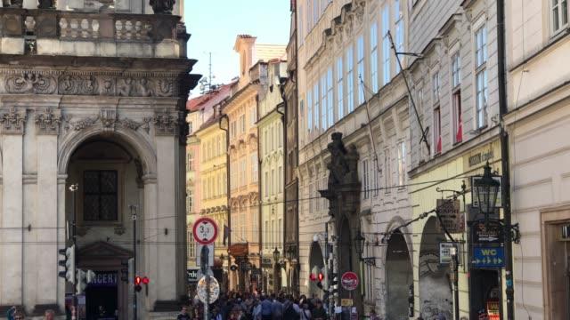 Busy street in Prague