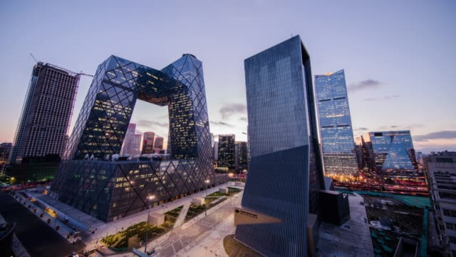 busy traffic in beijing, timelapse. - contemporary architecture stock videos & royalty-free footage