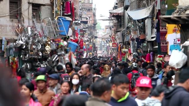 カトマンズの街を歩く時間します。 - ネパール点の映像素材/bロール