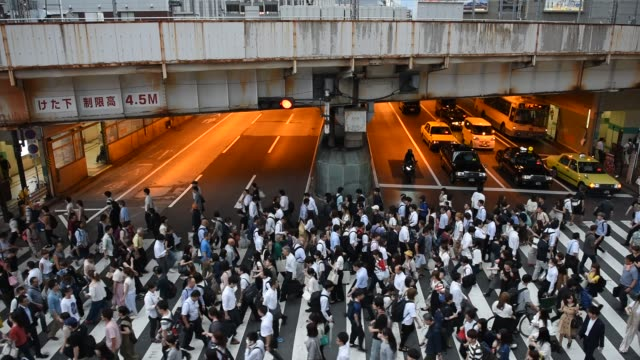 大阪で忙しい横断 - 交差点点の映像素材/bロール
