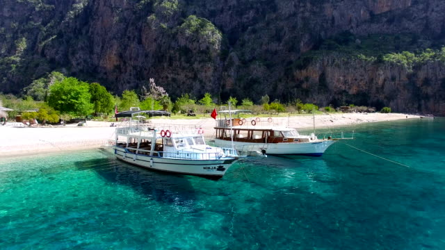 farfalla valle vista aerea - fethiye video stock e b–roll