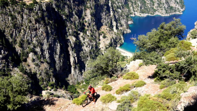 butterfly valley from oludeniz. fethiye / turkey. - fethiye video stock e b–roll