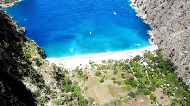 butterfly valley from oludeniz, turkey. - fethiye video stock e b–roll