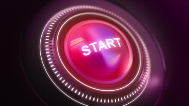 vídeos de stock, filmes e b-roll de hd: comece com o botão liga/desliga - pin