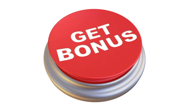 """button with the words """"get bonus"""" in action - bonus video stock e b–roll"""