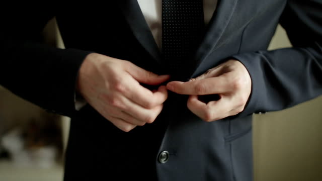 buttoning jacket - business suit stock videos & royalty-free footage