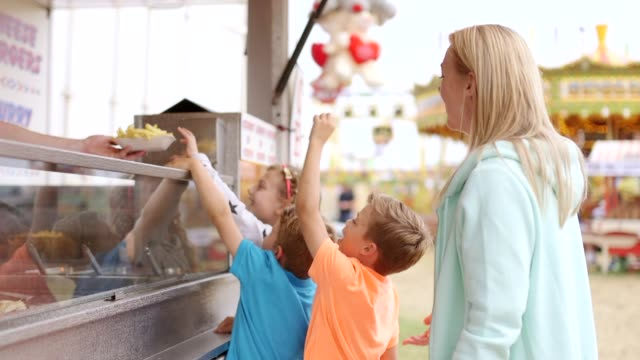 Buying Food at the Fairground video