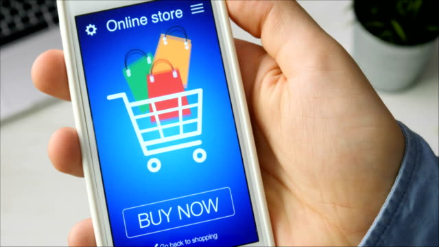 Buying goods in online store using smartphone application