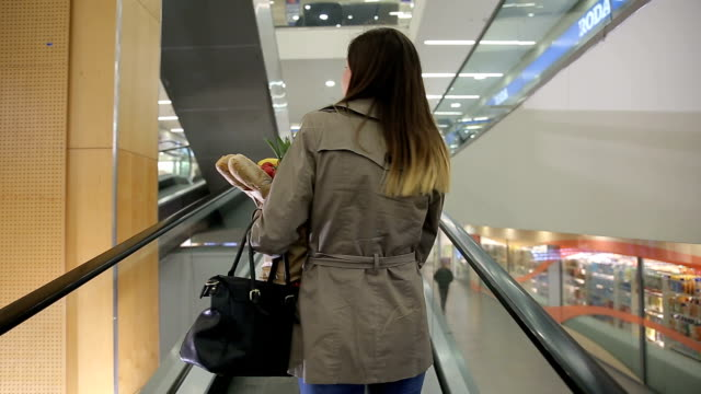 Buying groceries in mall video
