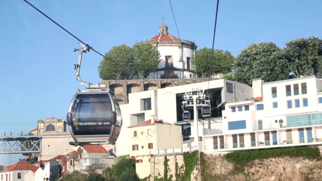 VDO :Cable Car Cabins in Porto, Portugal video
