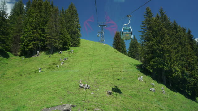 Cable car First Grindelwald Switzerland video