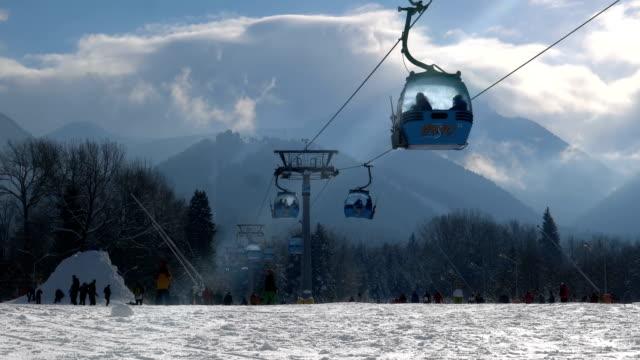 Cable Car Ski Lift in Bansko, Bulgaria