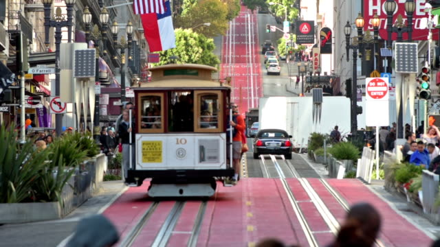 Cable Cars on Powell Street in San Francisco video